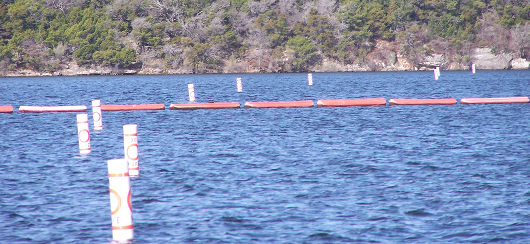 NEW BUOYS AT POSSUM KINGDOM LAKE