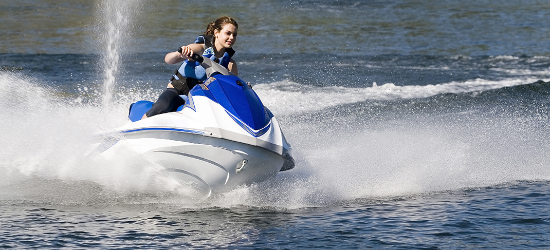 PERSONAL WATERCRAFT CAN BE THRILLING, BUT CAUTION IS CRUCIAL