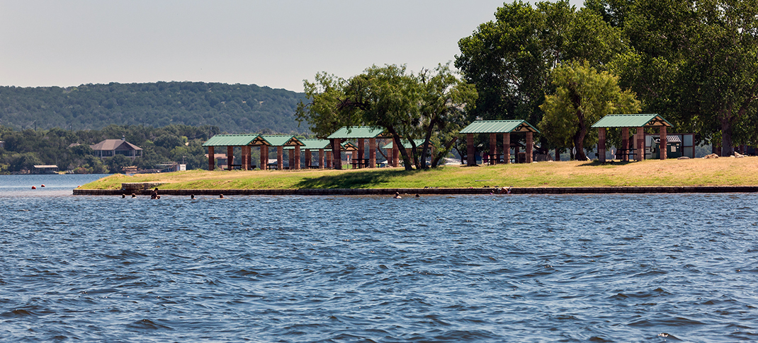 POSSUM KINGDOM LAKE'S SANDY BEACH PARK AVAILABLE FOR DAY USE ONLY THIS SUMMER